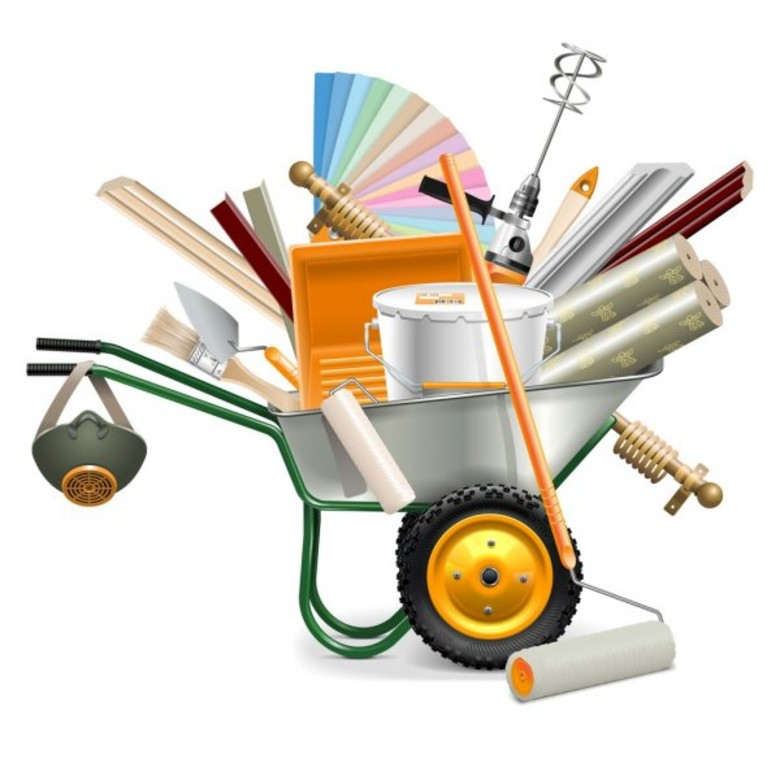depositphotos 87347682-stock-illustration-vector-wheelbarrow-with-painting-tools